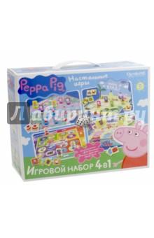 Peppa Pig. Настольные игры. Набор 4 в 1 (01601) пазл origami peppa pig транспорт 4 в 1