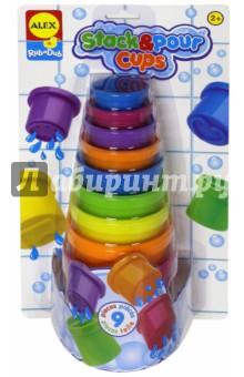 Набор для ванны Чашечки (816W) alex игрушки для ванны 3 цветные лодочки
