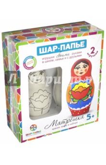 Купить Набор для детского творчества Матрёшка из шар-папье (В40923), ШАР, Раскрашиваем и декорируем объемные фигуры