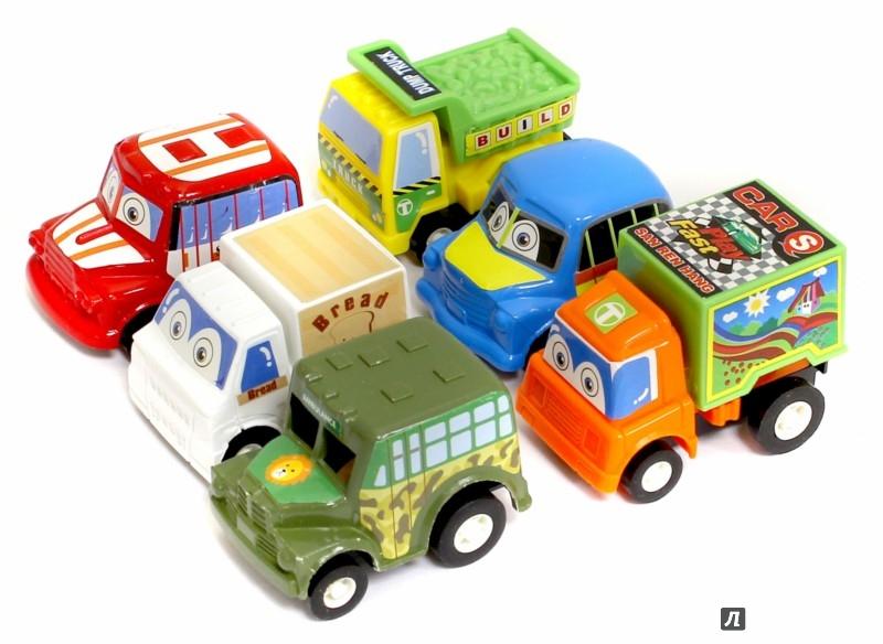 Иллюстрация 1 из 3 для Набор инерционных машинок (6 штук) (2810-6) | Лабиринт - игрушки. Источник: Лабиринт