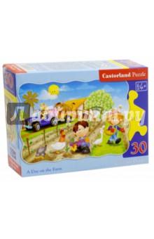 Купить Puzzle-30 MIDI День на ферме (В-03563), Castorland, Пазлы (15-50 элементов)