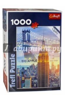 Купить Puzzle-1000 Нью-Йорк на рассвет-коллаж (10393), Trefl, Пазлы (1000 элементов)