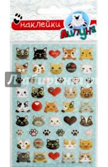 Купить Зефирные наклейки Кошки 2 (MMS036), Липуня, Наклейки детские