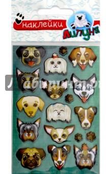 """Яркие наклейки """"Собаки"""" (WPS02)"""