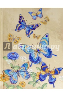 Записная книжка Notebook. Цветы и бабочки. 80 листов. А6 (42722) феникс записная книжка радужные бабочки