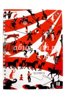 Скетчбук Цирк (80 листов, А4, евроспираль) (ТС4804317) канц эксмо цветы милый букет тетради а4 евроспираль 96л обложка без отделки