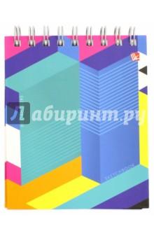 Скетчбук Яркая геометрия (80 листов, А6, евроспираль) (ТС6804321) скетчбук на спирали штрихи 80 листов а6 тс6804325
