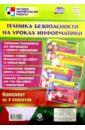 Комплект плакатов Техника безопасности на уроках информатики (4 плаката). ФГОС комплект плакатов правила дорожной и пожарной безопасности фгос