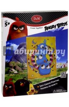 Роспись по холсту Angry Birds. Синие птички (18x24 см) (63822)