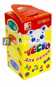Тесто для лепки, 4 цвета. 280 гр. (26С1590-08) формочки для лепки и моделирования 1 луч 22с 1419 08 красный
