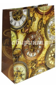 Пакет бумажный Хронографы (26х32,4х12,7) (44219) пакет феникс бумажный автомобили 26 32 4 12 7см