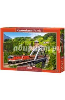 """Puzzle-500 """"Поезд на мосту"""" (B-52462)"""