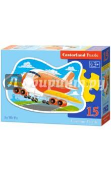 Купить Puzzle-15 Самолет (В-015146), Castorland, Пазлы (12-50 элементов)