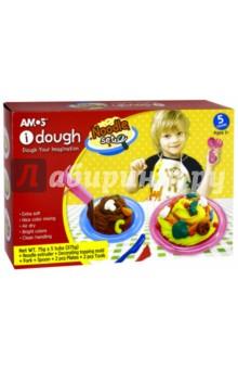 Тесто для лепки (5 цветов, с аксессуарами) (32900) AMOS