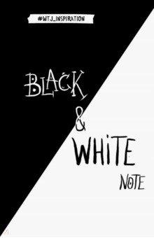 Black&White Note. Стильный блокнот с черными и белоснежными страницами black note