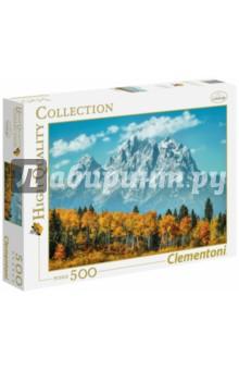 Купить Пазл-500 США, Вайоминг. Гора Гранд-Титон (35034), Clementoni, Пазлы (400-600 элементов)
