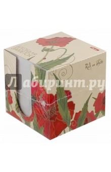 "Блок для заметок, 9х9х9 см ""Red on White"" (LN9_10641)"