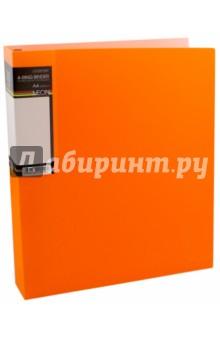 Папка на 4 кольцах, пластиковая NEON 4-RING BINDER, оранжевая (4AB4_02035).