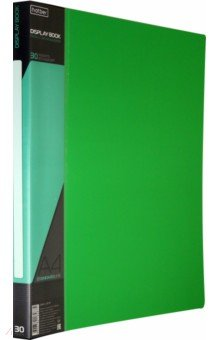 Папка с вкладышами, пластиковая, 30 вкладышей STANDARDLlINE DISPLAY BOOK, зеленая (30AV4_00107)