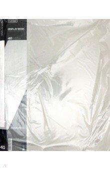 Папка с вкладышами, пластиковая, 40 вкладышей STANDARDLlINE DISPLAY BOOK, серая (40AV4_00114) папка 40 вкладышей горизонтальные линии желтая 221780