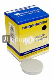 Магниты Standart, 30х8 мм, сила 0,8 кг, серые (1664201)
