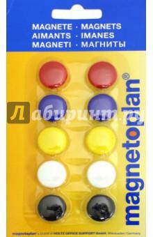 Магниты сигнальные в блистере. 10 штук. d=20 мм. (16662) сигнальные лампы