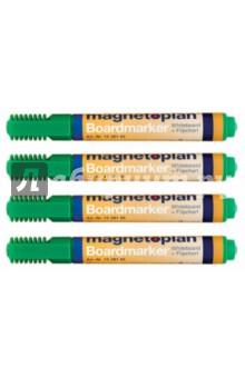 Маркеры универсальные magnetoplan: для досок и бумаги, 4 шт. Зеленые (1228105)