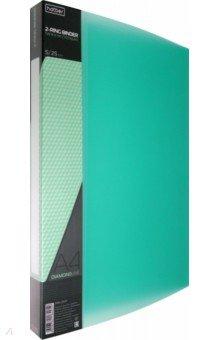 "Папка пластиковая на 2-х кольцах ""DIAMOND зеленая"" (А4, корешок 25 мм) (2AB4_02007)"