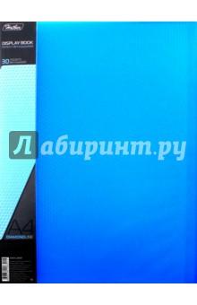 """Папка пластиковая """"DIAMOND синяя"""" (30 вкладышей, А4, корешок 17 мм) (30AV4_02009) Хатбер"""