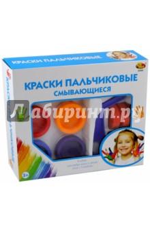 Краски пальчиковые смывающиеся, 6 цветов (А2468) краски спейс краски пальчиковые 6 цветов сенсорные