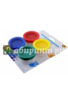 Краски пальчиковые смывающиеся (4 цвета) (А2684)