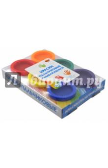 Краски пальчиковые смывающиеся (6 цветов) (А2752) краски спейс краски пальчиковые 6 цветов сенсорные