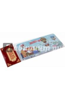 Подарочная коробочка для денег Конверт для денег. Дирижабли в лето (43682) подарочная коробочка для денег конверт для денег восточный калейдоскоп 43678