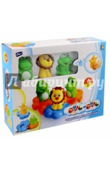 Набор игрушек для ванной Буль-буль, 6 шт. (Т59152) рокси кидс надувной круг flipper 0 с музыкой буль буль водичка