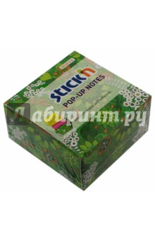 Блок для записи самоклеящийся (200 листов, 76x76 мм, Z-сложение, неон 2 цвета) (21426) блок самоклеящийся бумажный stickn magic 21573 76x127мм 100лист 70г м2 неон 4цв в упак