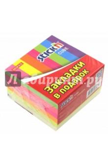 Блок для записи самоклеящийся (400 листов, неон, 5 цветов) (27055) блок для записи самоклеящийся inblooom 100 листов 4 цвета с рисунком 28074
