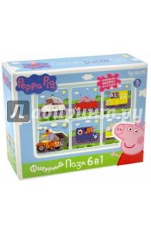 Peppa Pig. Развивающий пазл 6 в 1 фигурный Транспорт (01565) пазл 4 в 1 peppa pig транспорт 01597