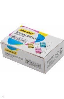 Зажимы для бумаг (19 мм, 12 штук, цветные) (510012) Silwerhof