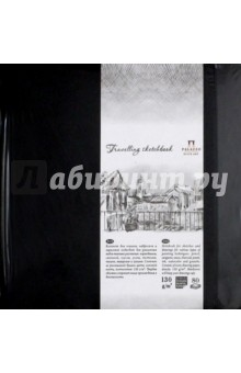 Блокнот, 80 листов, 140*140 Travelling sketchbook, черный (БЛ-9212) принадлежности для рисования палаццо блокнот для эскизов котенок а5 50 листов