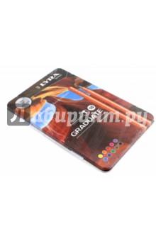 Цветные линеры Graduate Fine Liner, в металлическом пенале, 10 цветов (LR771100) карандаши kin 12 цветов в металлическом пенале 3576 12