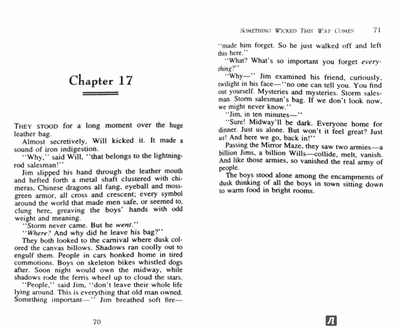 an analysis of ray bradburys novel something wicked this way comes Something wicked this way comes [ray bradbury] it may be best to read the novel before watching the he brought magic to life in something wicked that.