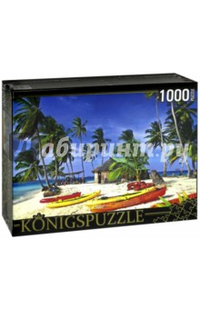 Puzzle-1000 Лодки на острове (КБК1000-6457) puzzle 1000 семь леопардов tinga 29427