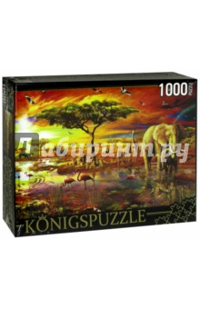 Puzzle-1000 Озеро в саванне (МГК1000-6466) puzzle 1000 дом милый дом 79801