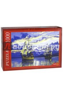 """Puzzle-1000. """"Корабли и снежный пик"""" (АЛ1000-7019)"""