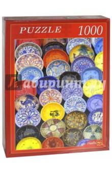 Puzzle-1000. Расписные тарелки (КБ1000-6831) пазлы crystal puzzle 3d головоломка вулкан 40 деталей