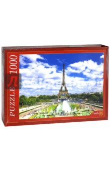 Puzzle-1000 Эйфелева башня и фонтаны (КБ1000-6852) пазлы crystal puzzle 3d головоломка эйфелева башня 96 деталей