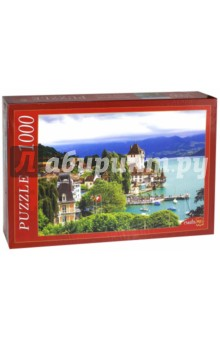 Puzzle-1000. Швейцарский замок на воде (КБ1000-6872) puzzle 1000 замок simon mardsen 29563