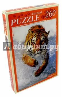 """Puzzle-260 """"Бегущий по воде тигр"""" (КБ260-4008)"""
