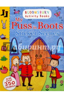 My Puss In Boots Sticker Scenes the usborne terrific colouring and sticker book