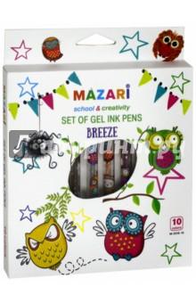 Набор ручек гелевых с блестками (ароматизированные, 10 цветов) (М-5516-10) mazari набор гелевых ручек nidea 4 цвета